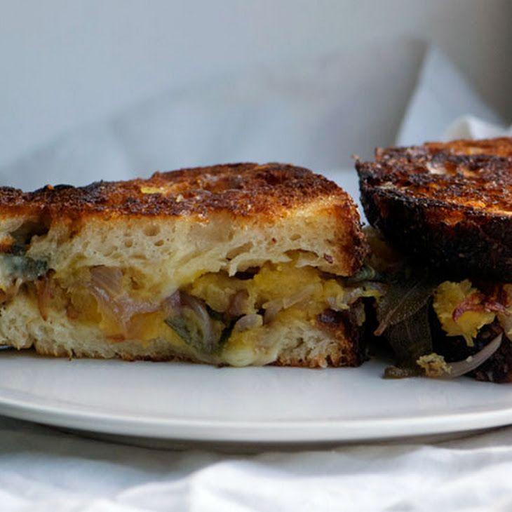 Spaghetti Squash Grilled Cheese Sandwiches Recipe — Dishmaps