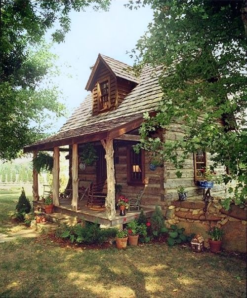 Little Cabin In The Woods Cabins Outdoor Living