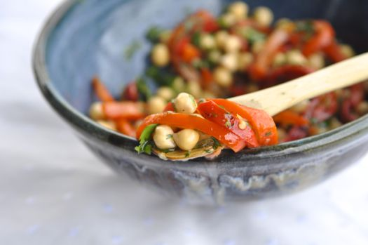 Chickpea Salad with Roasted Red Peppers & Capers - gluten free