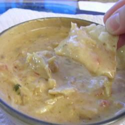This year's Superbowl hit: Outrageous Warm Chicken Nacho Dip