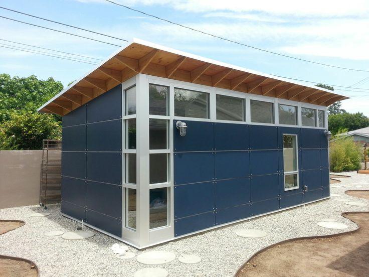 Pin by studio shed modular modern prefab backyard for Prefab work shed