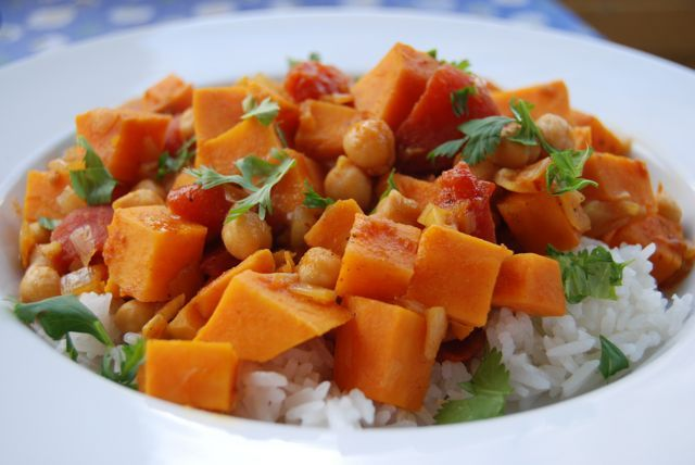 Moroccan-Spiced Sweet Potato and Chickpea Stew » The Daily Dish