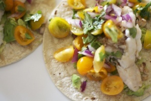 Fish tacos with heirloom tomato salsa | Food & Cooking | Pinterest