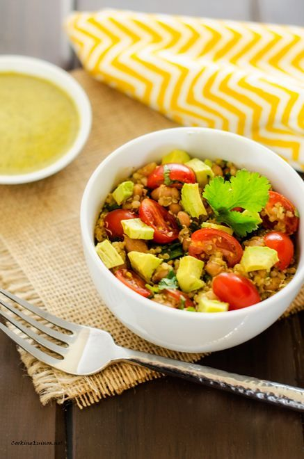 Avocado Quinoa Salad with Chipotle Lime Dressing - Cooking Quinoa