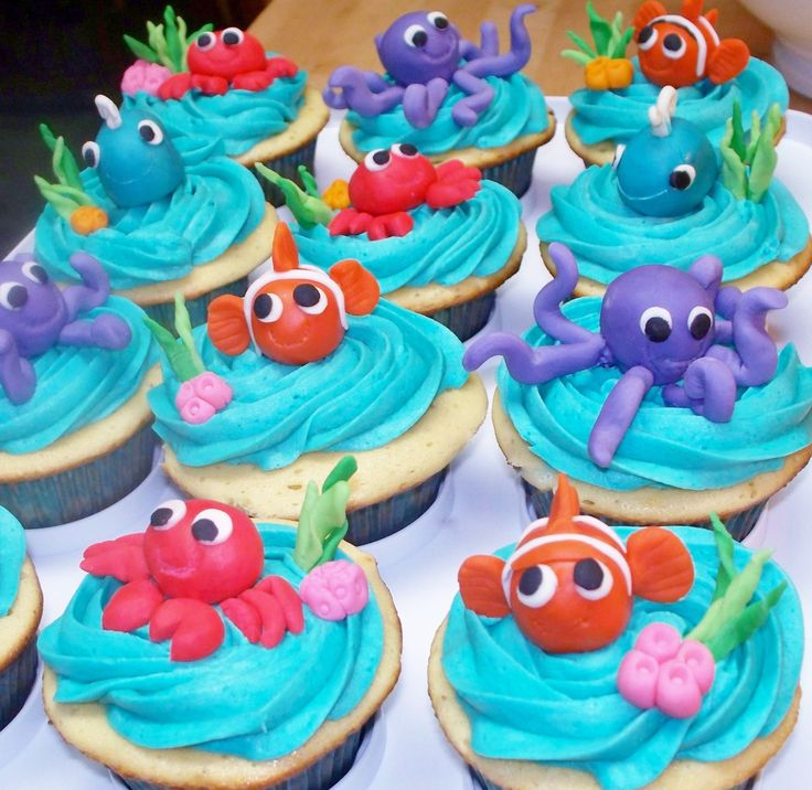 Cupcake Decorating Ideas Under The Sea : - Under the sea cupcakes Party ideas Pinterest