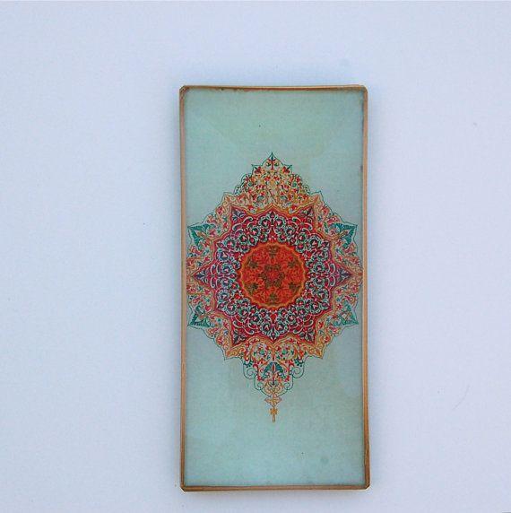 Decoupage Glass / Bohemian Art / Wall Art