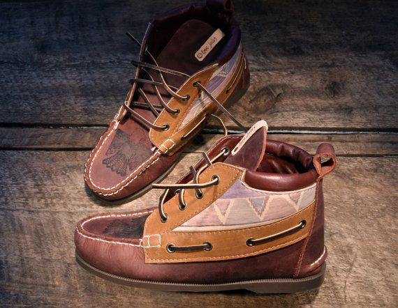 high-top boat shoes