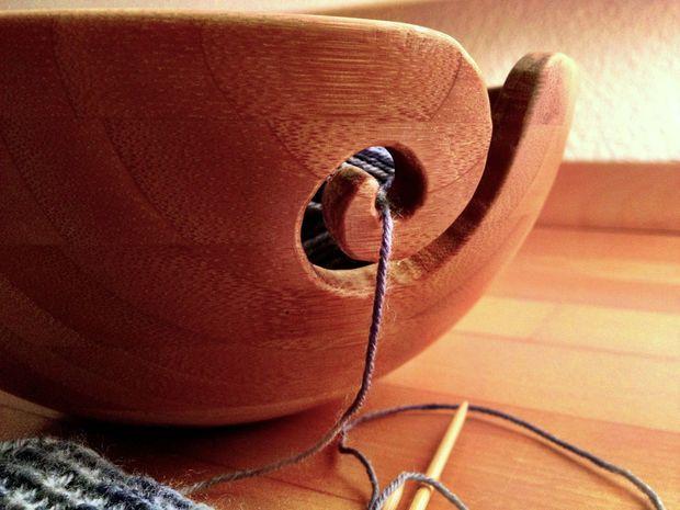 Diy wooden yarn bowl ceramic