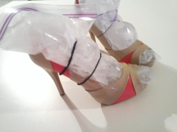 heels with water  Fill ziplock bag filled 1 3 with water  work bag    Ziplock Bag With Water
