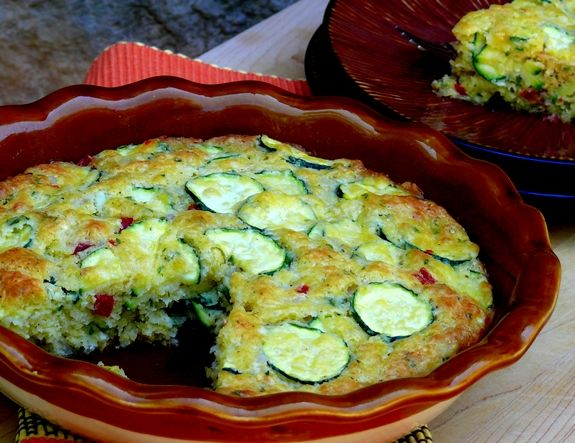 Zucchini Pie made with Bisquick Baking Mix - from The Noble Pig