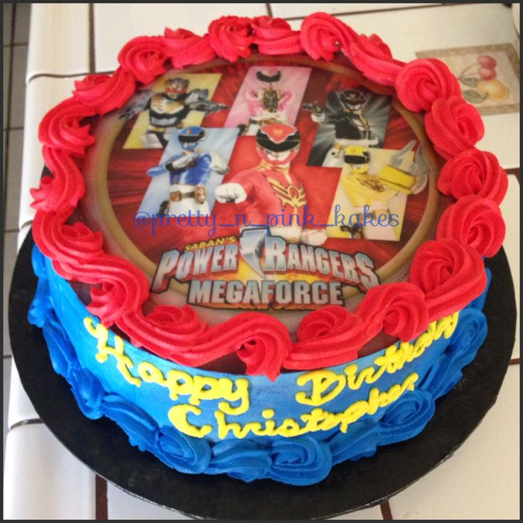 Power Rangers cake | Bentley's 3rd birthday ideas | Pinterest