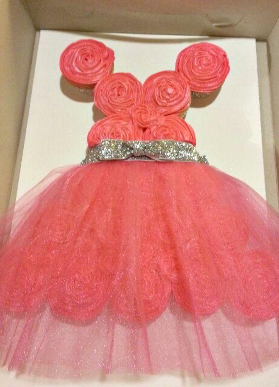 Princess Dress Cupcake Cake  cupcakes  Pinterest