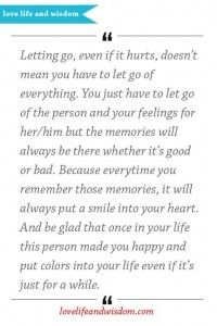 Letting Go, Even If It Hurts