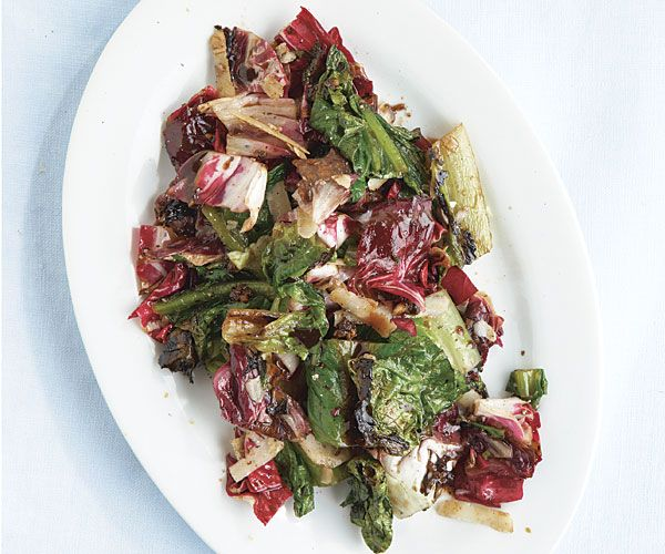 Charred Radicchio with Sweet-and-Sticky Balsamic and Bacon | Recipe