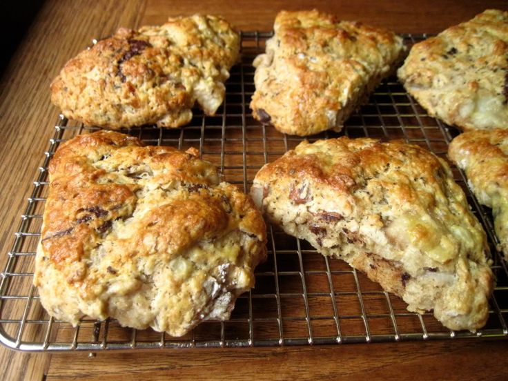 Roasted Pear And Chocolate Chunk Scones Recipe — Dishmaps