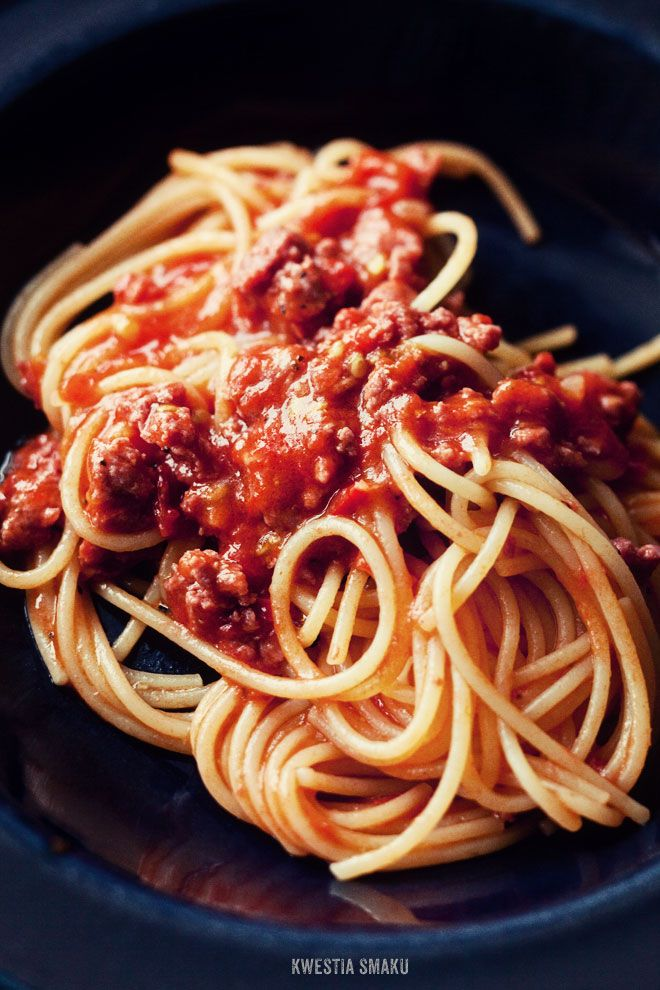 Szybkie spaghetti bolognese - Przepis