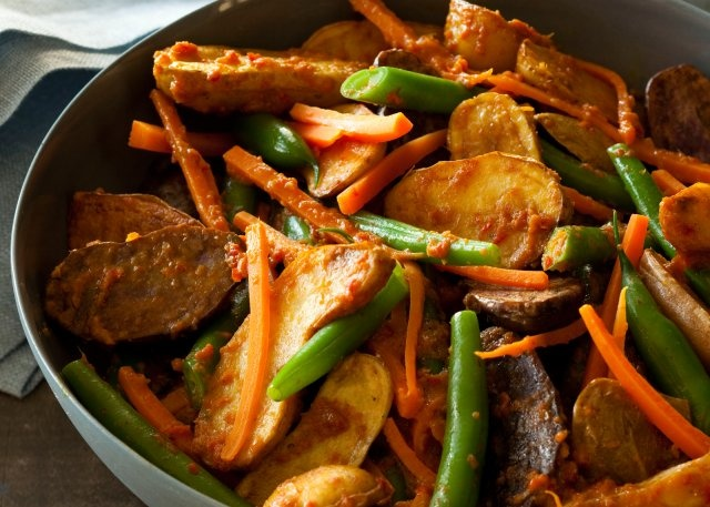 new potato rendang amp green beans recipe a delicious vegan curried ...