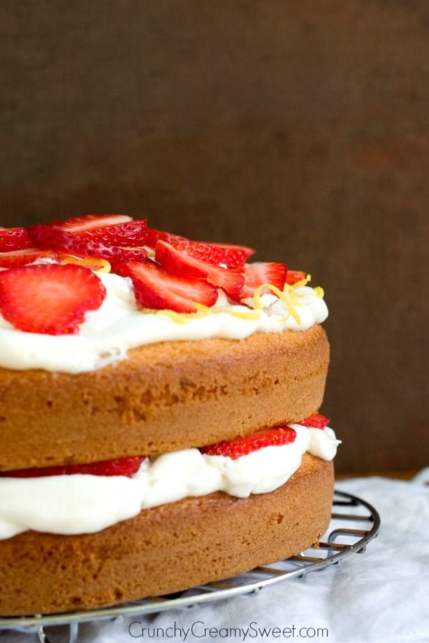 Images Of Strawberry Layer Cake : Lemon Strawberry Layer Cake Recipe