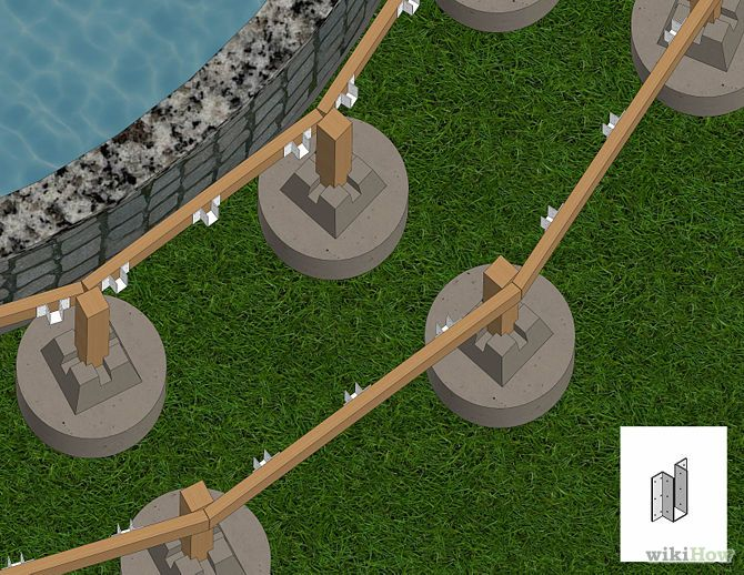 Build a deck around an above ground pool step for How to build a deck around a pool
