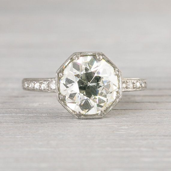 230 Carat Vintage Art Deco Engagement Ring