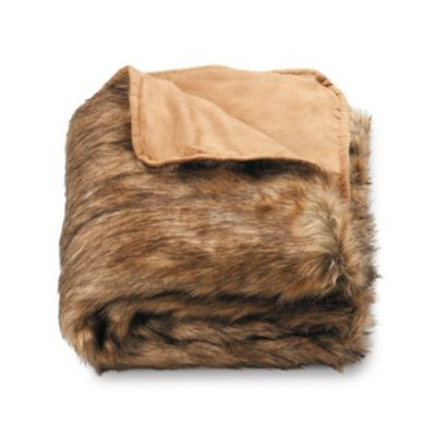 Whether you're curled up on the couch or riding in a car, the Faux Fur Throw will add the warmth you need to ward off chilly air.
