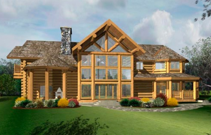 Log homes pictures google search log homes pinterest for 2 story log cabins
