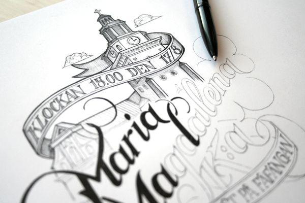 Hand Lettering by Martin Schmetzer, via Behance
