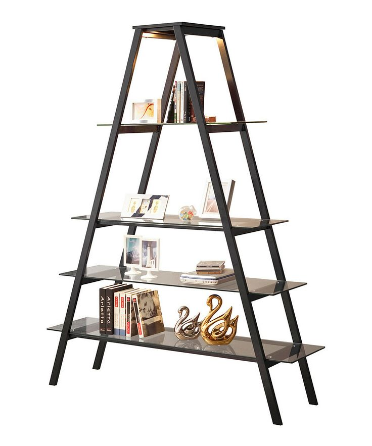 Black triangle bookshelf - Triangular bookshelf ...