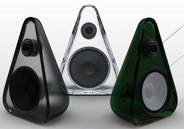 ALEX KILLEAVY, PEARDROP SPEAKERS: made from recycled glass.