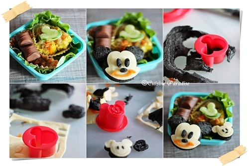 Mickey Bento - Step by step with ingredients