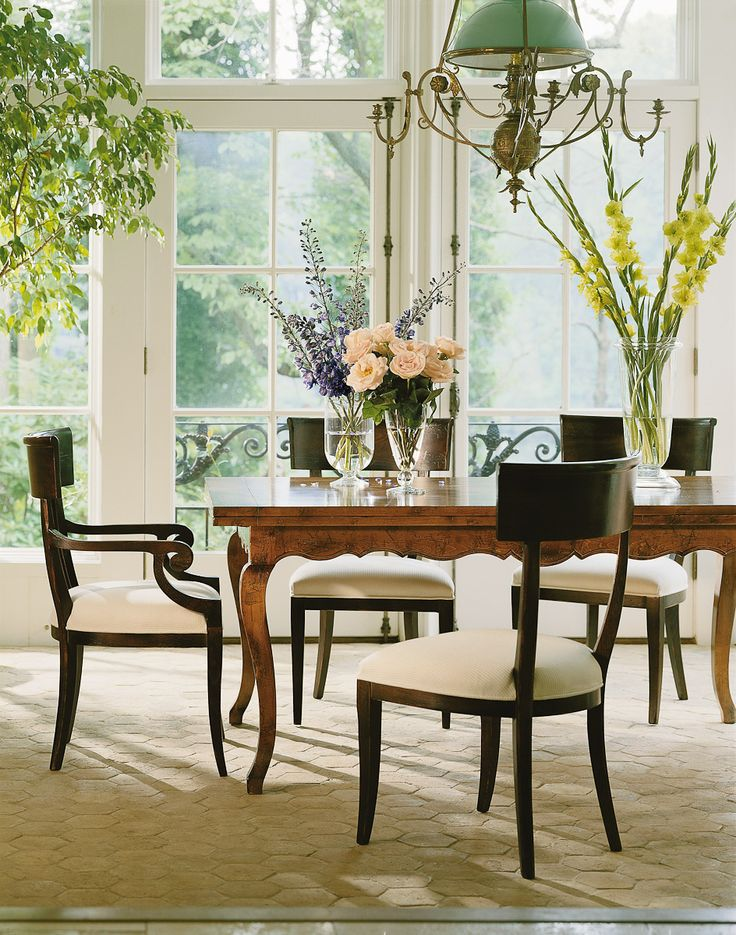baker walnut table inspiring dining rooms pinterest