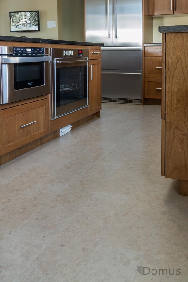 kitchen with cork flooring a home remodel