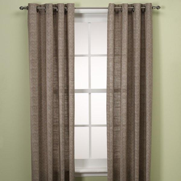 ... Grommet Window Curtain Panels, 100% Cotton - Bed Bath & Beyond
