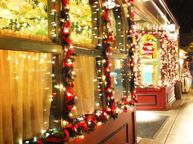 Decorated Christmas Store Windows in Italy