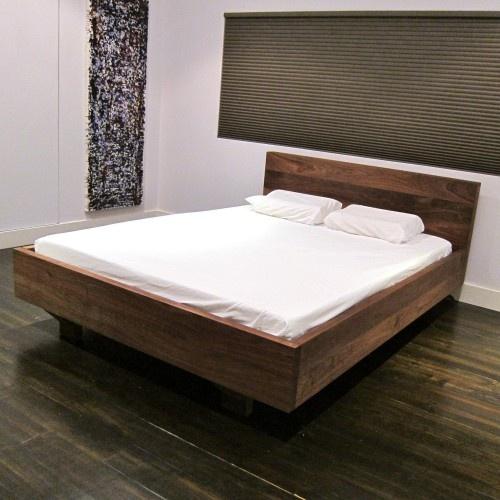 Floating platform bed platform bed plans pinterest for Floating bed frame
