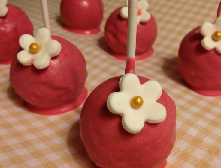 Raspberry & Vanilla cake pops | Taarten, cupcakes en koekjes. | Pinte ...