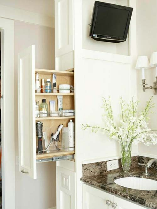 some great bathroom storage ideas built in organization pinterest