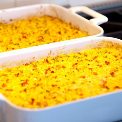 Fresh Corn Casserole with Red Bell Peppers and Jalapeños | Recipe