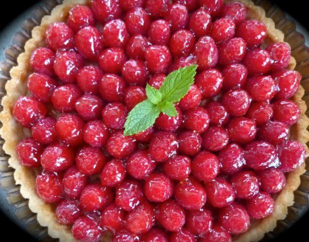 Fresh Raspberry Tart With Vanilla Creme Fraiche | Recipe
