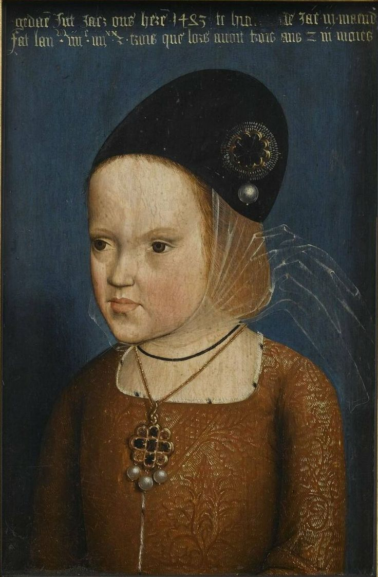 Marguerite d'Autriche, duchesse de Savoie (1480-1530), 1483. Anonyme Flandre