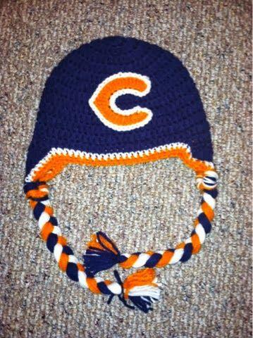 Free Crochet Pattern For Chicago Bears C : Chicago Bears! Bears crochet hat Crochet Ideas and ...