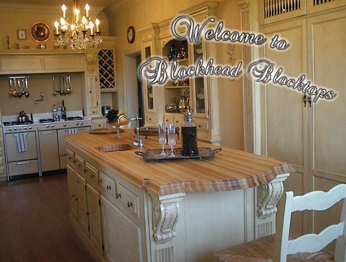 custom kitchen butcher block island home pinterest