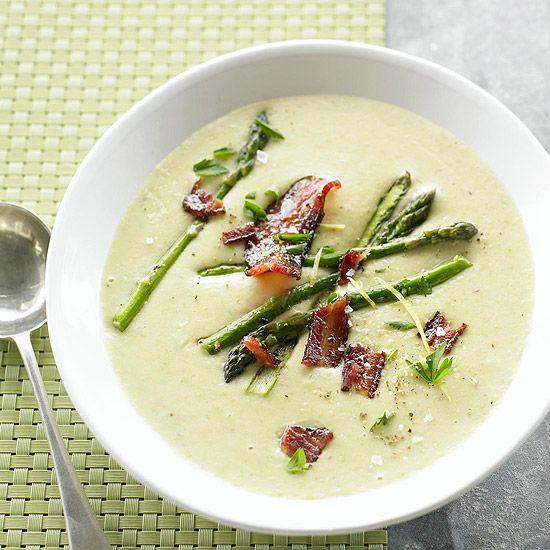 Creamy Potato & Asparagus Soup | Favorite Foods | Pinterest