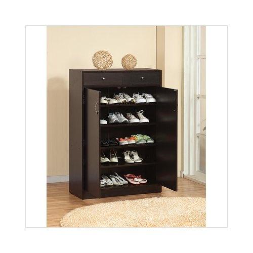 Hokku Designs Brick Modern Five Shelf Shoe Cabinet With Two Drawer In