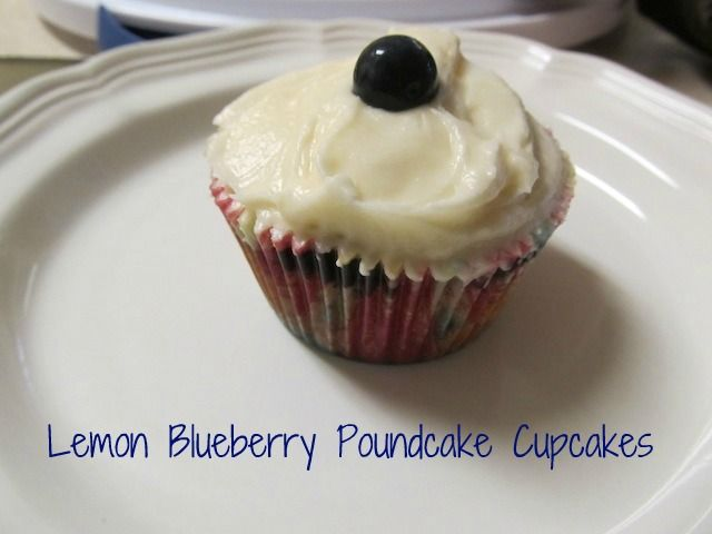 Lemon blueberry (Pound Cake) Cupcakes | Cupcake Addiction | Pinterest