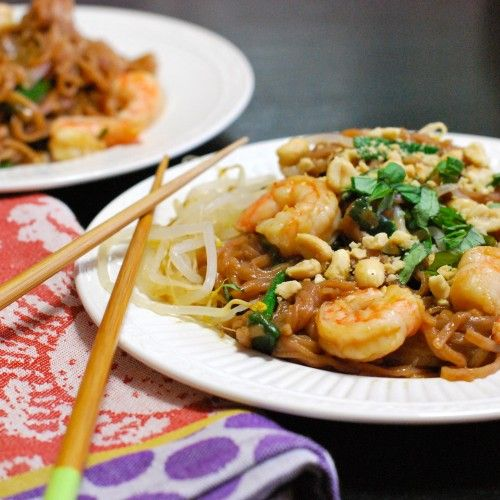 Healthy and quick Shrimp Pad Thai | Yummy Recipes | Pinterest