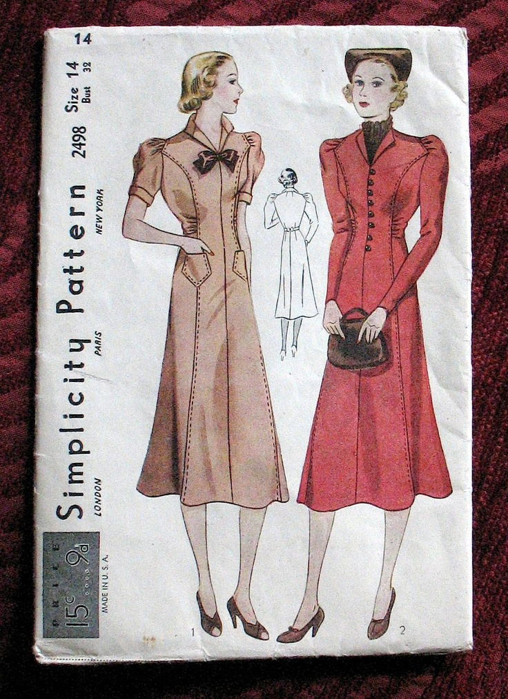 Simplicity 2498 - late '30s