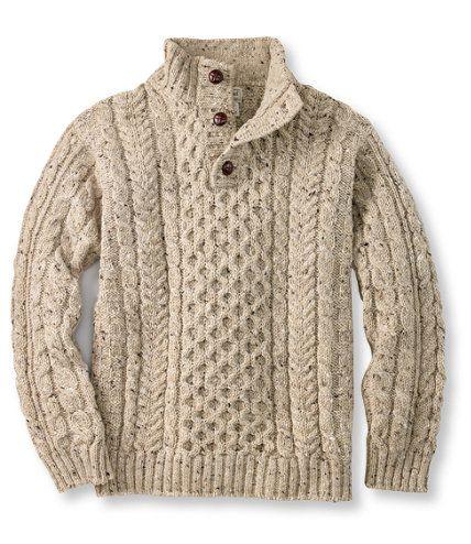 Heritage Sweater, Irish Fisherman's Button-Mock: Henleys and Zip-Necks ...
