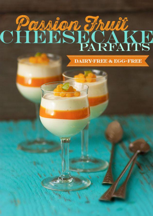 Passion Fruit Cheesecake Parfait Dessert Shots - Lexie's Kitchen ...