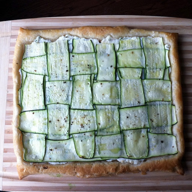 Zucchini Tart with Herbed Lemon Ricotta (adapted from fortychestnuts)